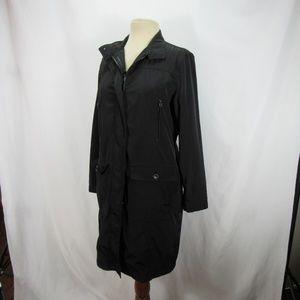 Eddie Bauer Black Waterproof Coat Long Jacket S